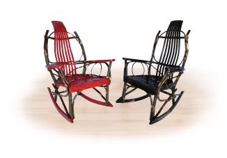 51 color stained hickory rockers