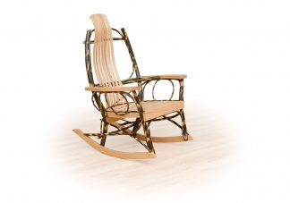 53 flat arm hickory rocker