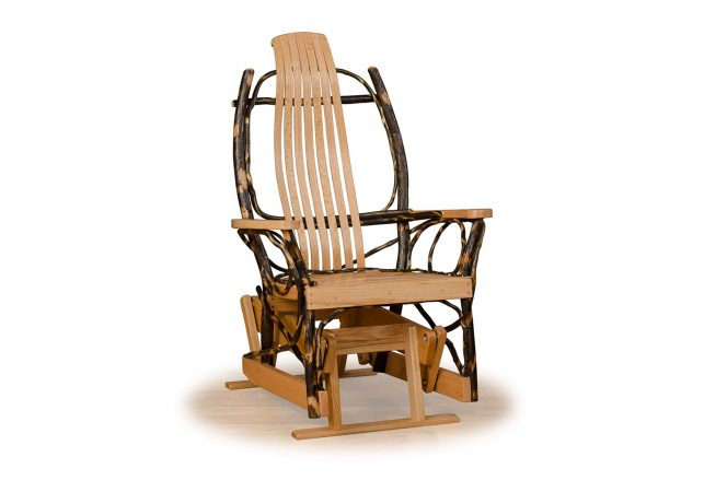 54 hickory glider rocker single