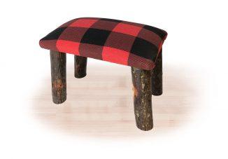 67 hickory footstool