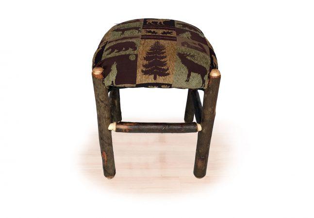 70 small hickory ottoman