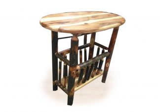 76 hickory oval magazine table