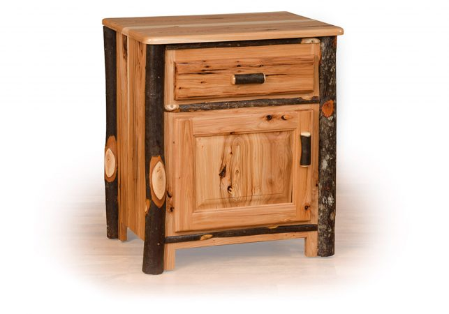 83 hickory night stand drawer door