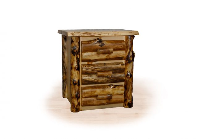 100 aspen 3 drawer night stand
