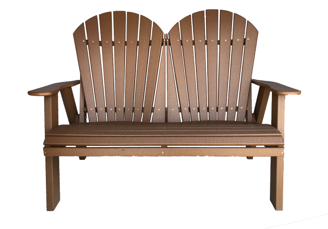 12 fanback love seat outdoor seating from poly wood