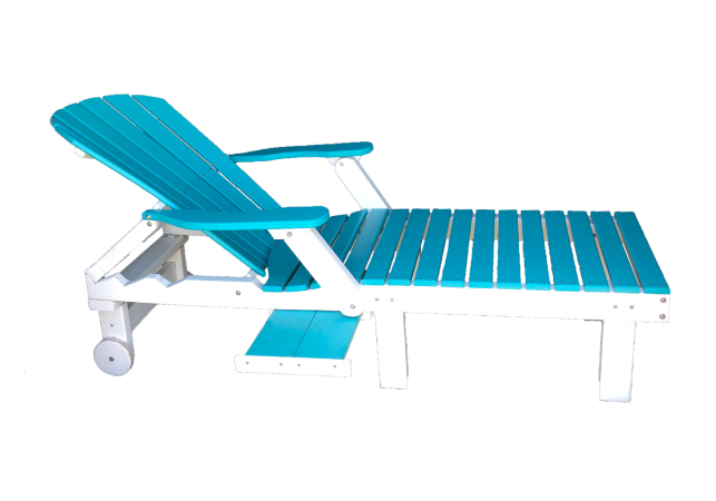 13 fanback chaise lounge chair made from recycled materials