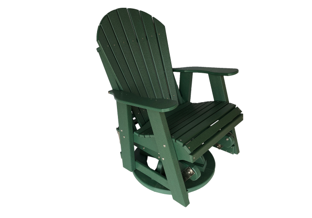 09 fanback swivel glider outdoor poly furniture for sale