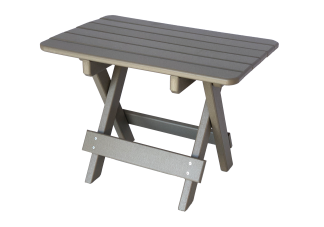 34 rectangle folding side table for patio furniture