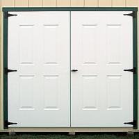 shed door raised panel steel 0