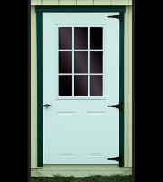 shed door steel 9 lite window 0