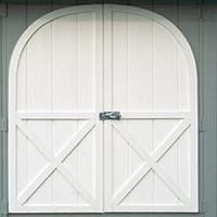 shed door wood painted door 0