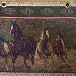 horses dark fabric for hickory furniture