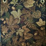 leafy black fabric for hickory furniture