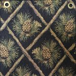 pinecone black fabric for hickory furniture