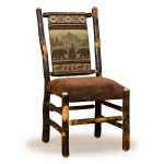 01 hickory low back chair no arms