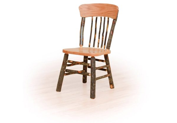 05 hickory panel back chair no arms