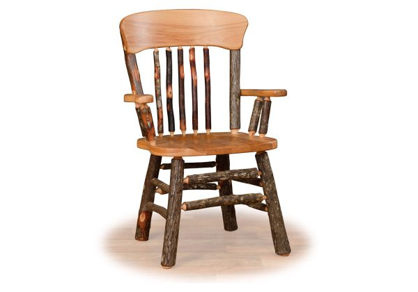 06 hickory panel back chairs with arms
