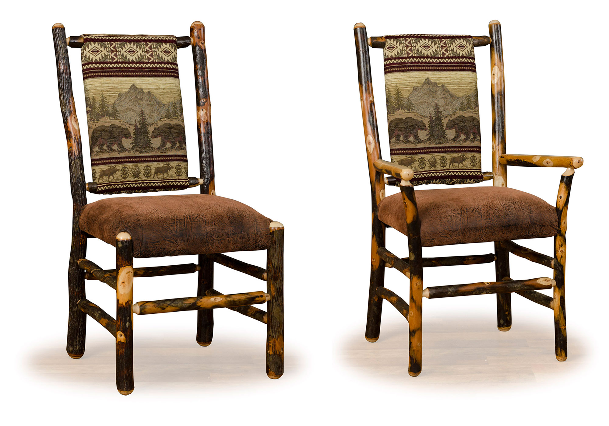 1 hickory low back chairs for sale