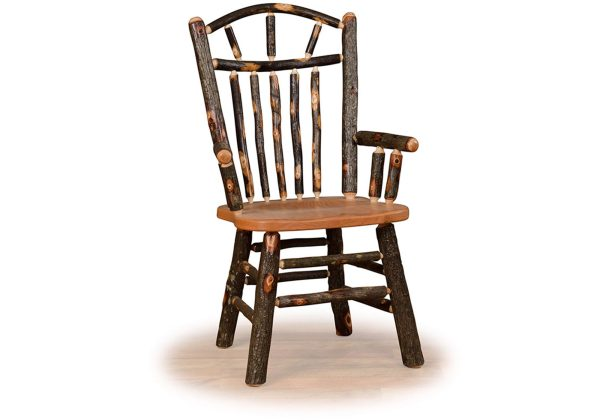 10 hickory wagon wheel chair with arms