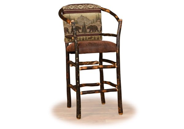 17 hickory hoop barstool fixed seat