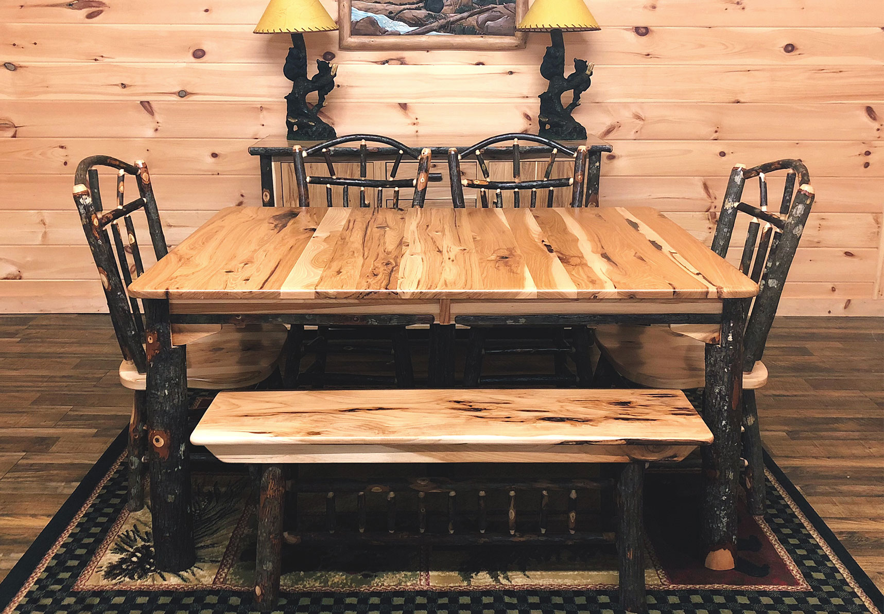 19 hickory leg tables