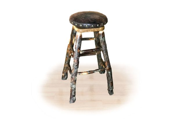 22 hickory padded stool with swivel