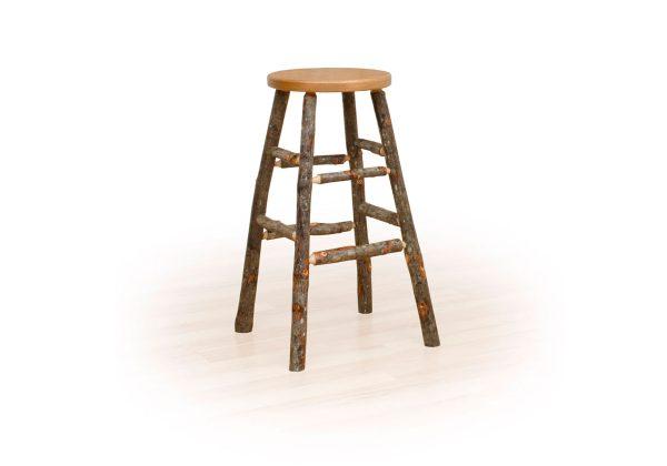23 hickory kitchen stool fixed seat