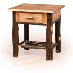 25 hickory night stand spindle shelf