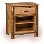 26 hickory night stand with drawer and without door