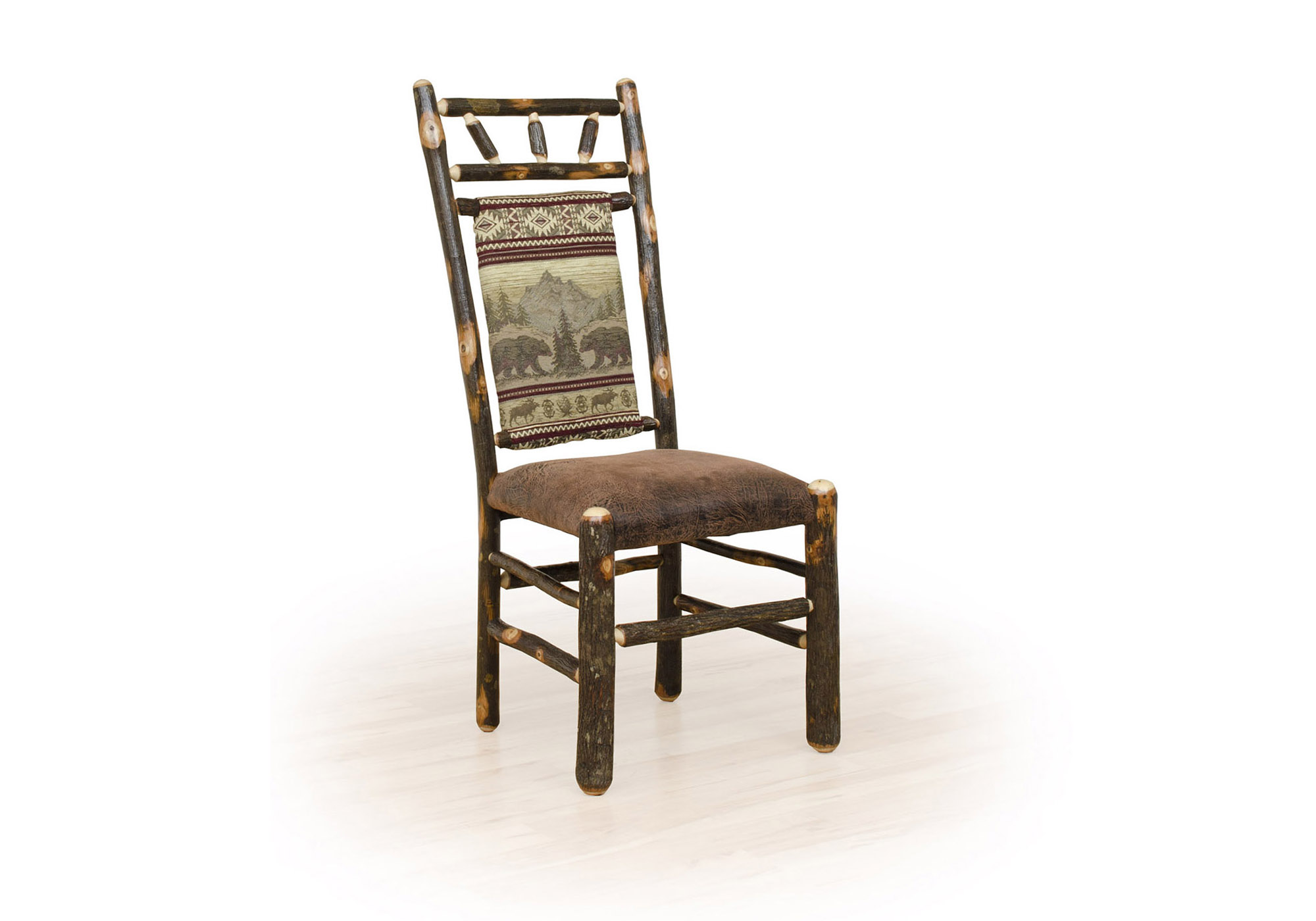 3 hickory high back chair