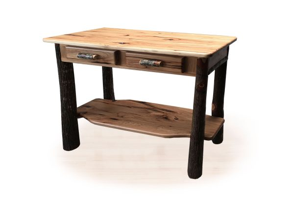 41 hickory sofa table with drawers