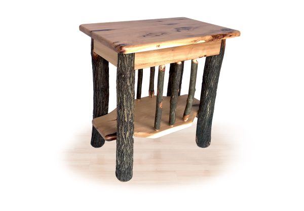43 hickory end table