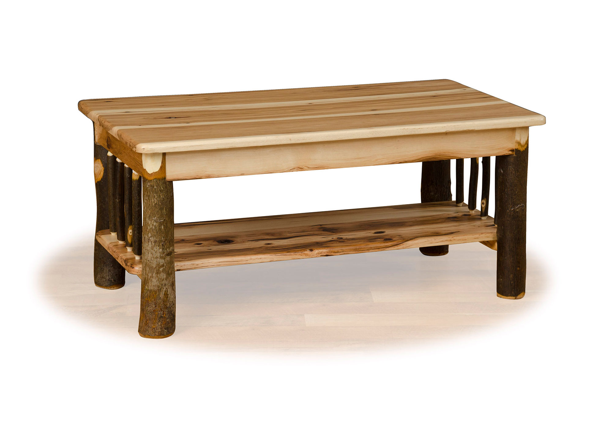45 hickory coffee table