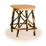 47 rustic end table