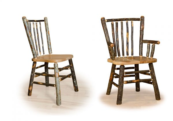 5 hickory stick back chairs