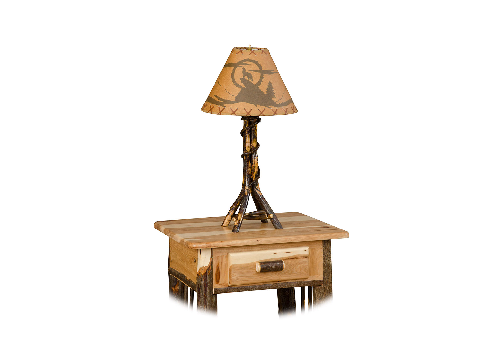 72 hickory table lamp