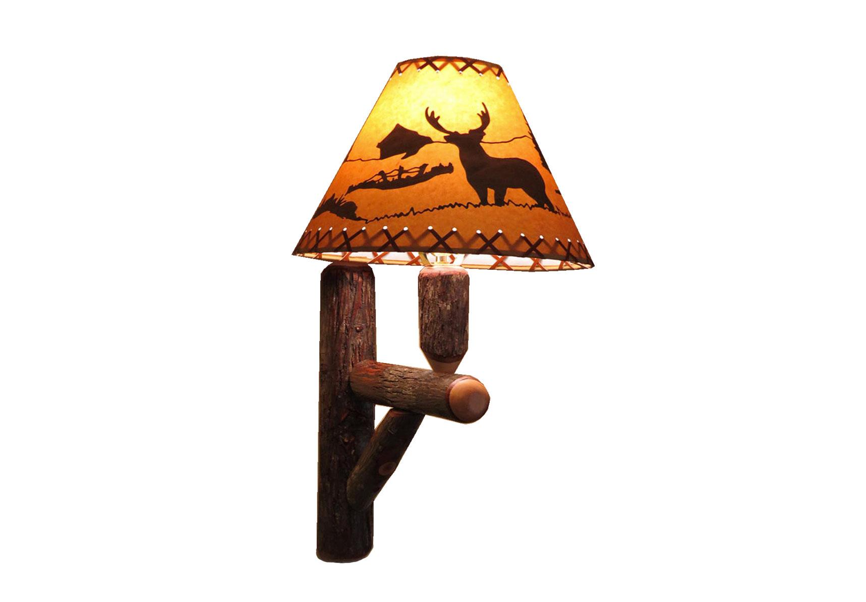 73 hickory wall lamp