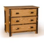 97 hickory 3 drawer chest