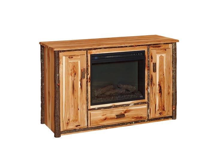 2 door fireplace tv stand 1