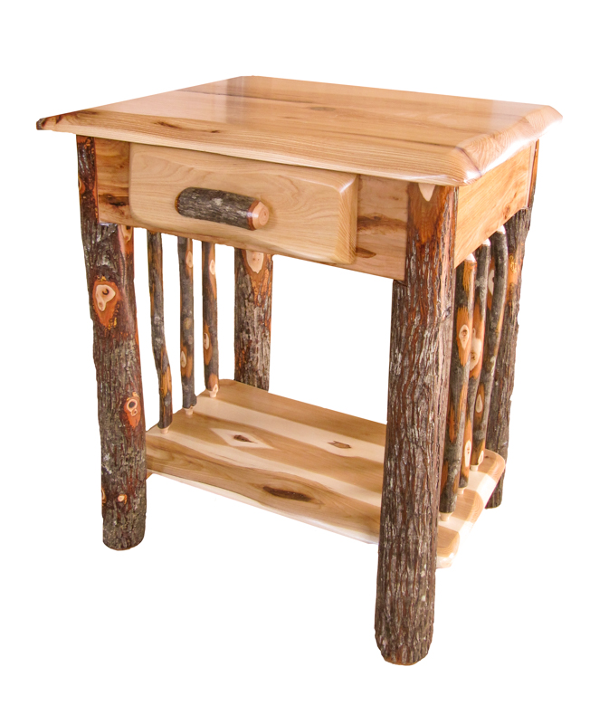 Wavy edge 1 drawer night stand 1