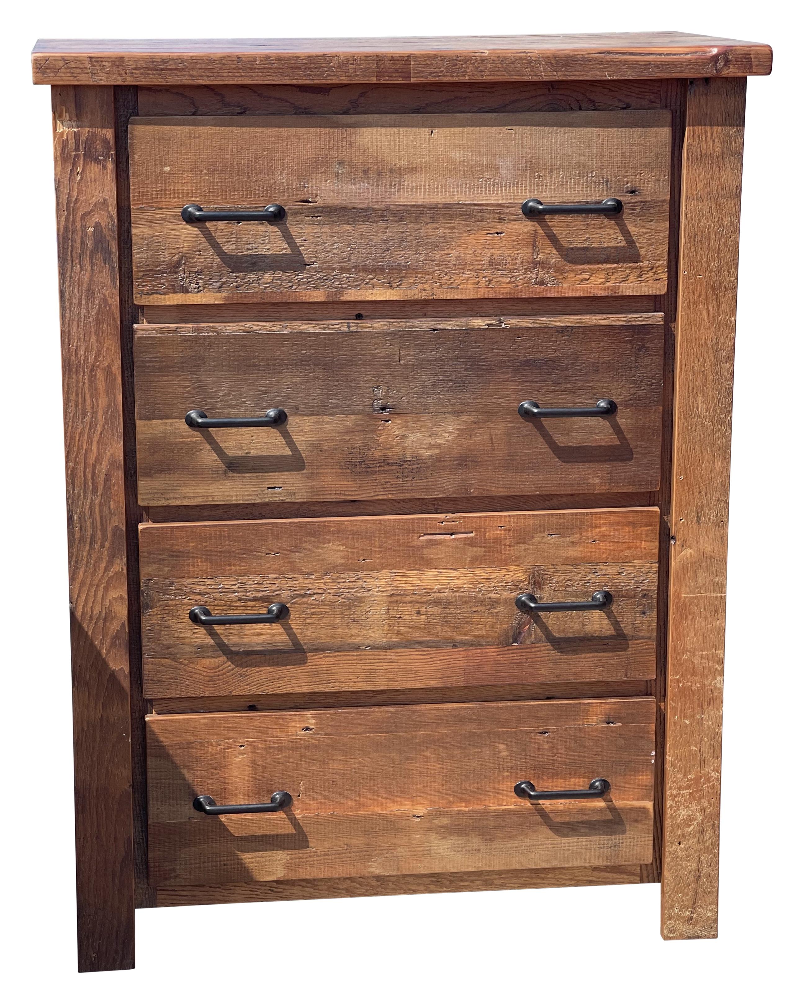 barnwood 4 drawer dresser chest