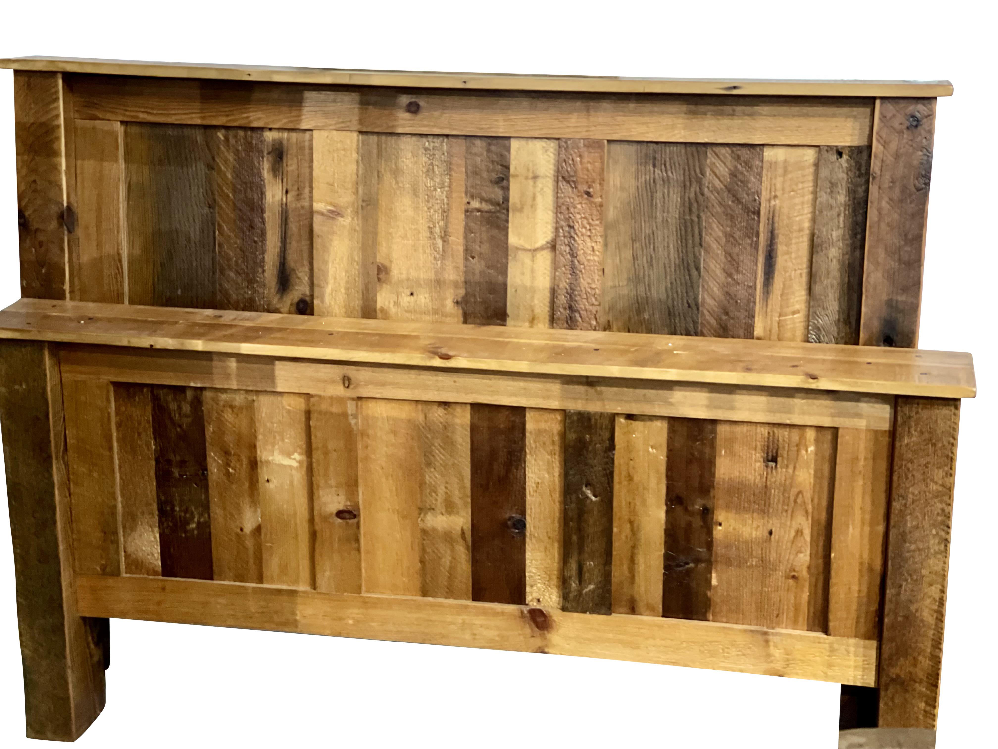 barnwood bed 1