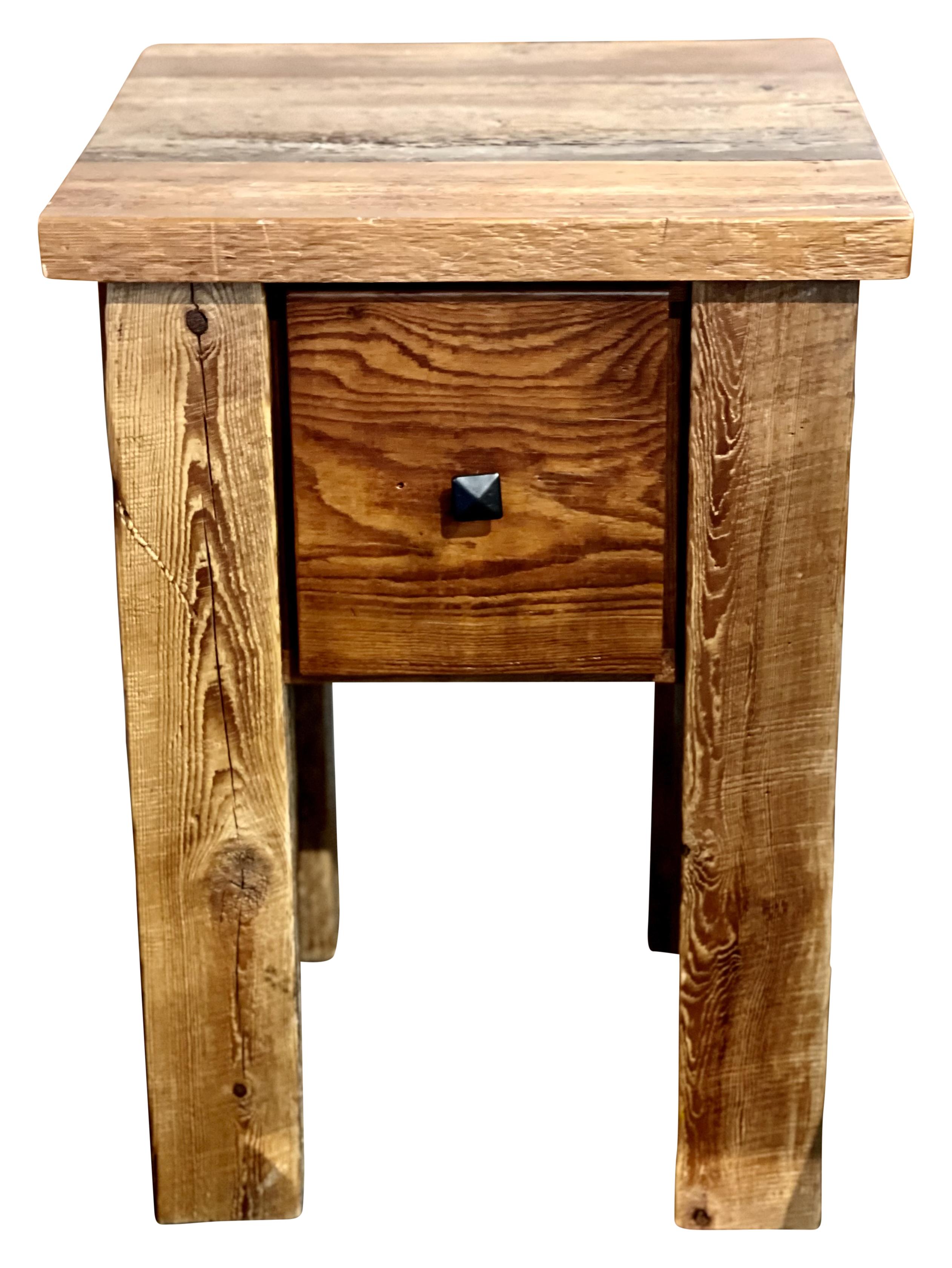 barnwood side table