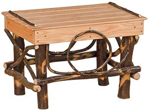 hickory footstool