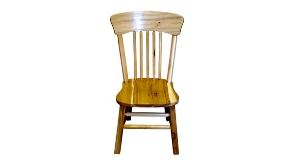 hickory panel back non bark dining chair