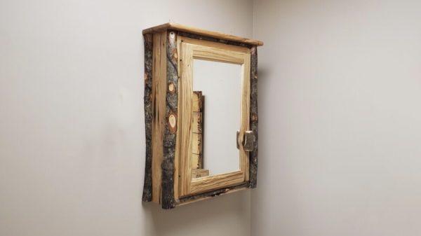 medicine cabinet with mirror door
