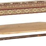 plain bench with shelf