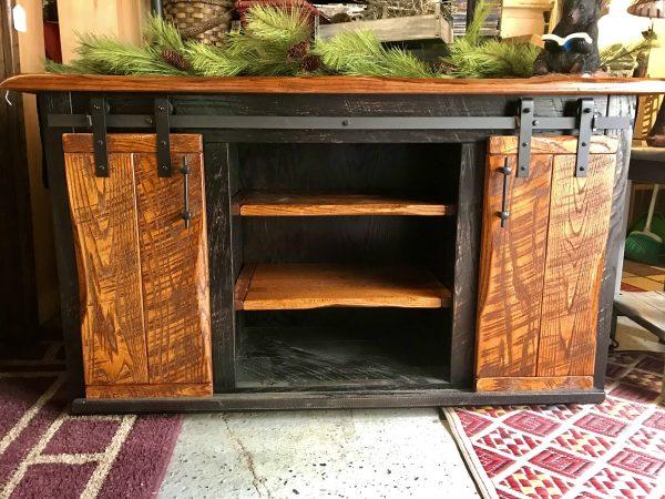 rustic barndoor tv cabinet copy