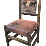 rustic padded seat and back