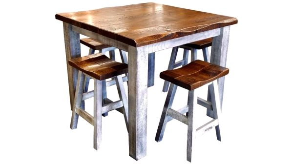 rustic solid top table